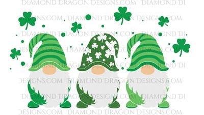 St. Patrick's Day - Gnomes with Shamrocks - Waterslide Decal