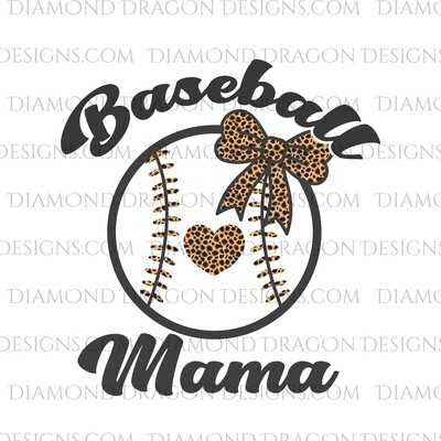 Mom -  Baseball Mama, Leopard, Waterslide