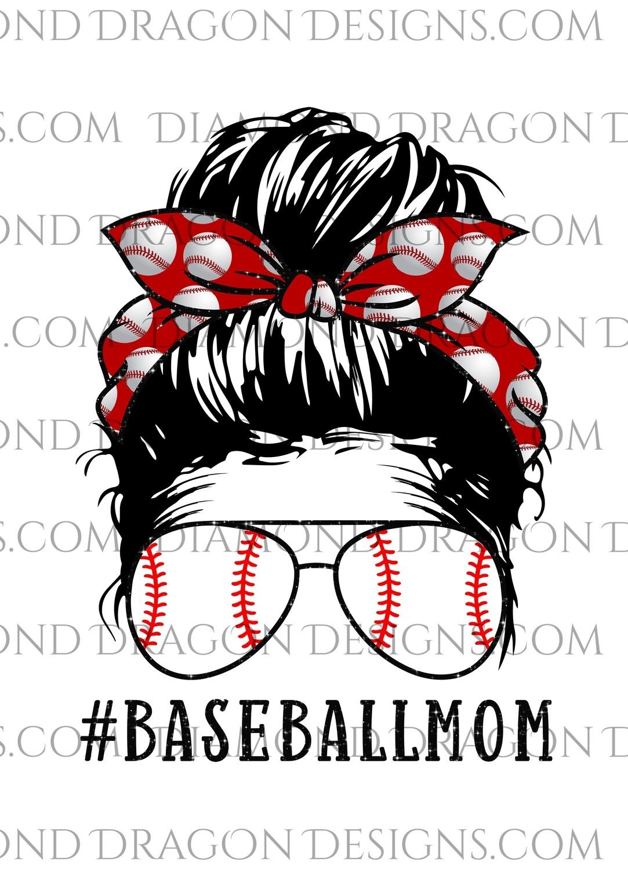 Mom -  Baseball Mom, Bandana, Glasses, Waterslide