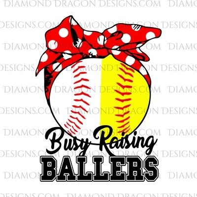Sports - Busy Raising Ballers, Baseball, Softball, Waterslide