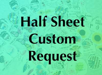 Custom - Half Sheet Custom Image, Waterslide