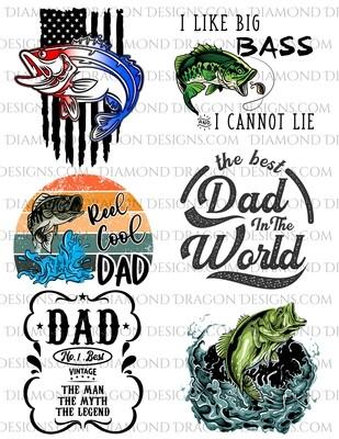 Bundle - Father's Day, Fish Bundle, Laser Printed Waterslides, Super Discount Bundle