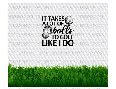 Tumbler Wrap File - Golf Ball, Father's Day, Balls, Digital Image