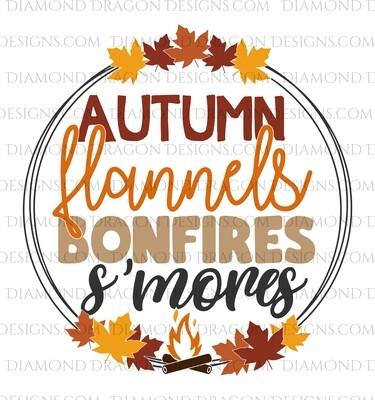 Fall - Autumn, Flannels, Bonfires, S'mores Waterslide