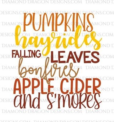 Fall - Pumpkins, Hayrides, Bonfires, Waterslide