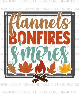 Fall -  Flannels, Bonfires, S'mores Waterslide