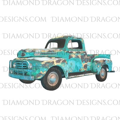 Western - Vintage Truck, Leopard Print, Waterslide