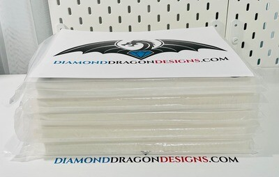 20 Sheets CLEAR - LASER PRINTER - Premium THICK Waterslide Paper