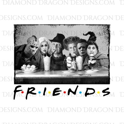 Halloween - Friends Halloween Movie Characters, Waterslide