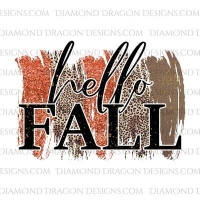 Fall - Hello Fall, Glitter Look, Waterslide
