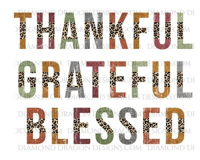 Fall - Thankful, Grateful, Blessed, Waterslide