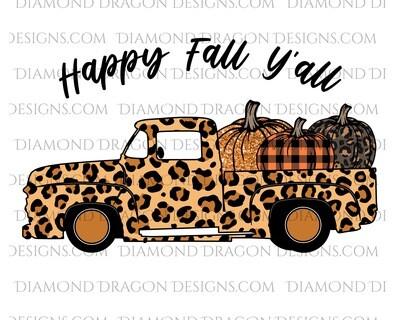 Fall - Vintage Truck, Happy Fall Y'all, Waterslide
