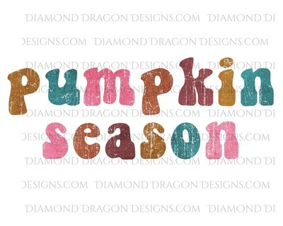 Fall - Pumpkin Season, Colorful, Waterslide