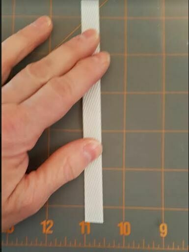 White Plastic Strips