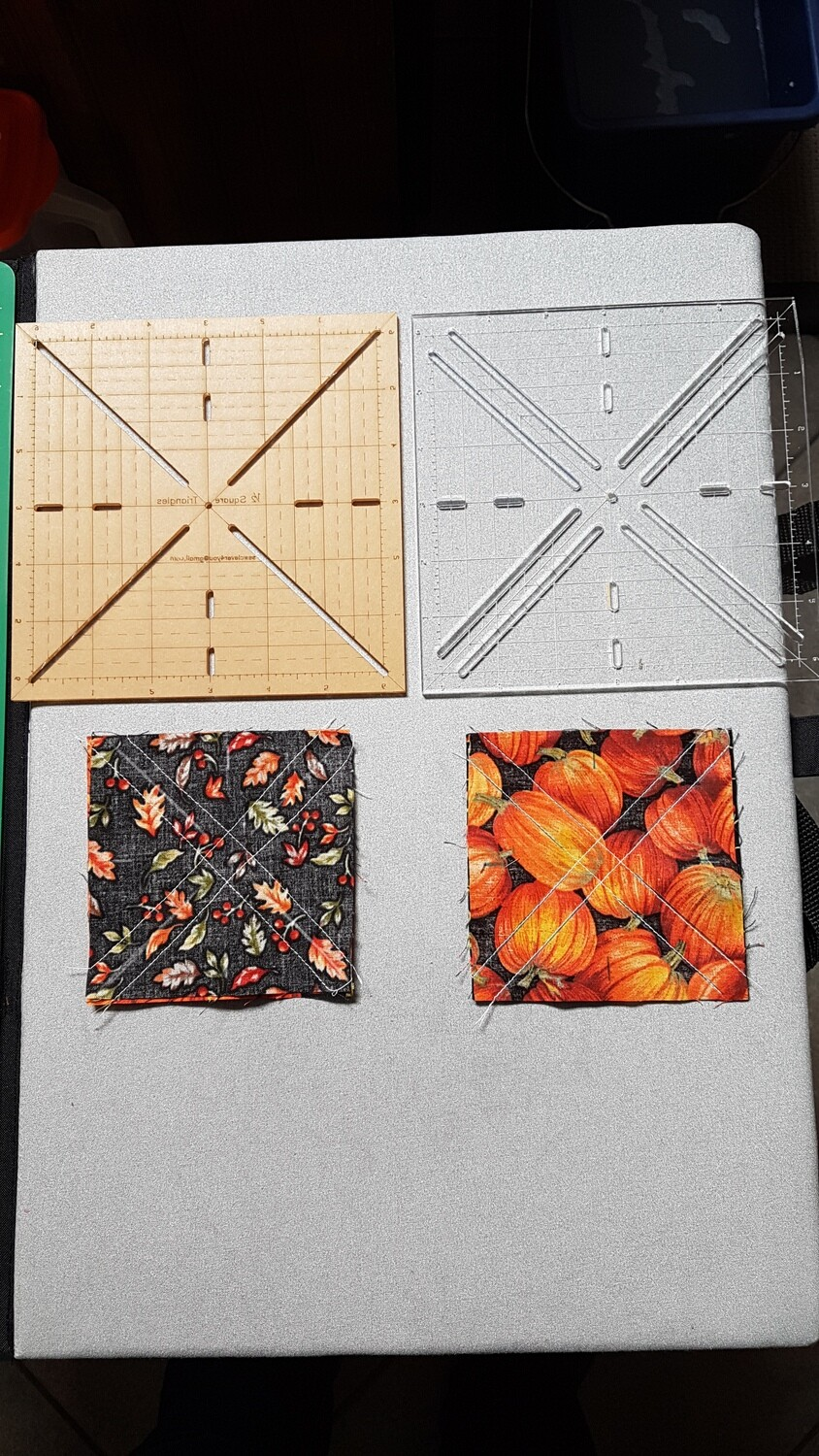 "Half (Quarter) Square Block Templates - for up to 12"" blocks (cut upon request)"