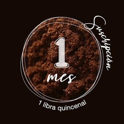 Suscripción 2 libras mes de café molido con envío nacional incluido