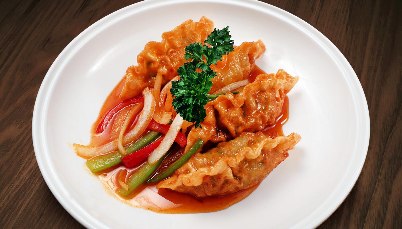 Spicy Deep Fried Gyoza
