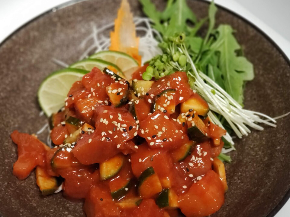 Spicy Salmon Sashimi