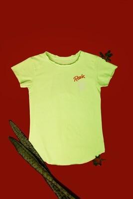 Camiseta babylook verde limão