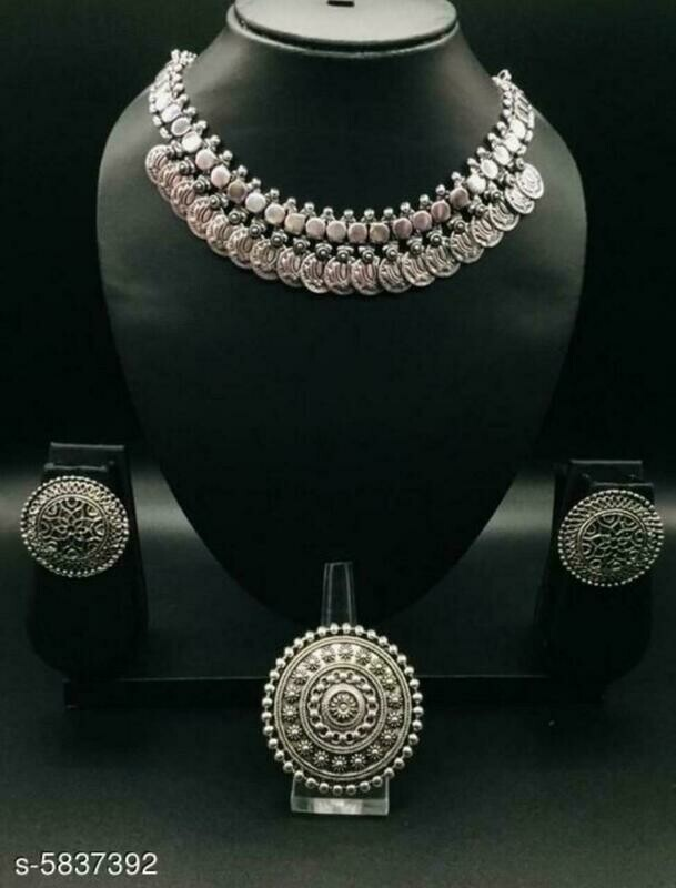 Oxidised Women's Jewellery Set