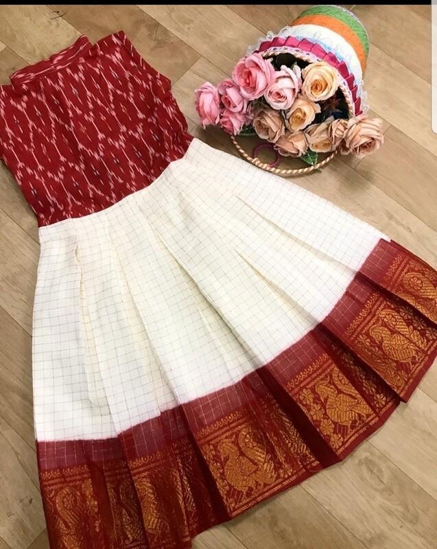 SUNGUDI AND IKKAT DRESS