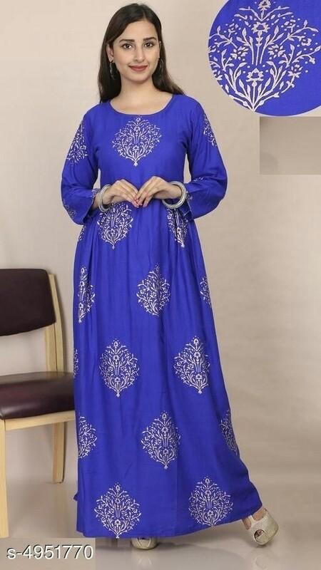 BLUE MAXI DRESS (PURPLE EFFECT)
