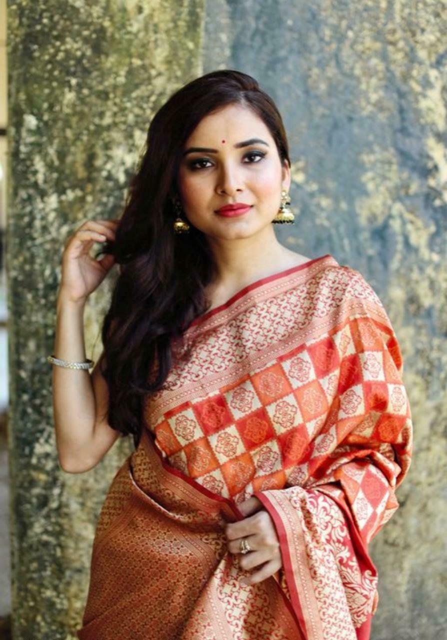 Women's Soft Banarasi Silk Saree