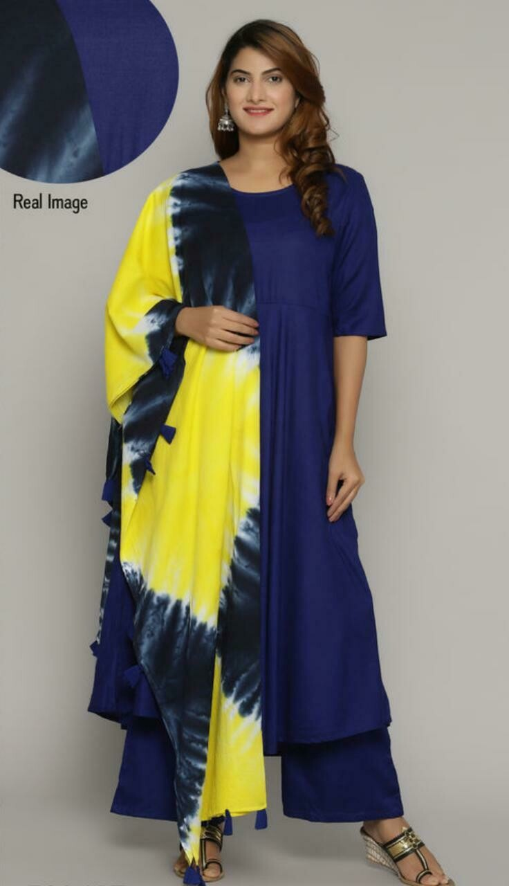 Women's Cotton Kurta set with Palazzos
