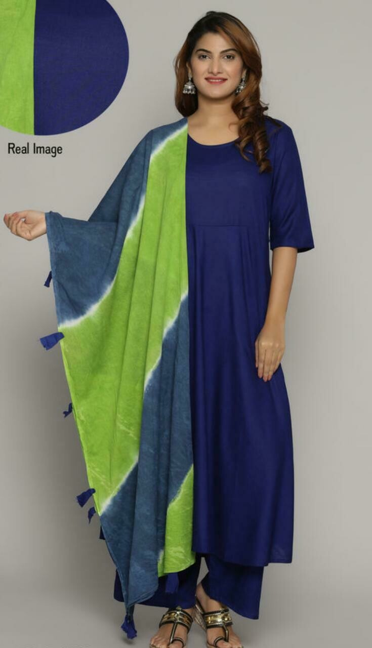 Women's Cotton Kurta set with Palazzos