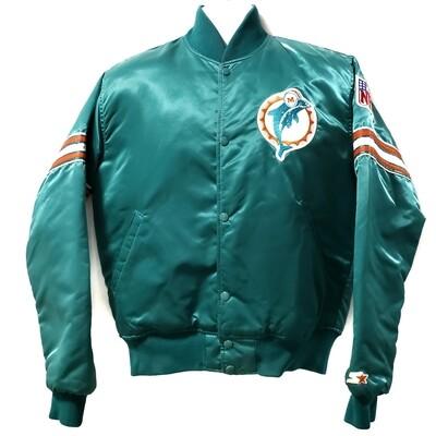 Miami Dolphins Satin Bomber Jacket
