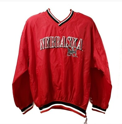 Nebraska Huskers Windbreaker Logo Athletic