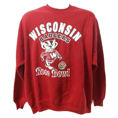 Wisconsin Badgers Rose Bowl Crew Neck