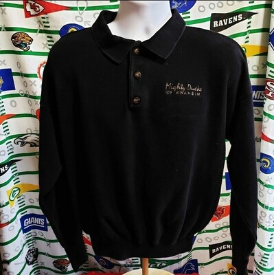 Anaheim Mighty Ducks Long Sleeve Polo