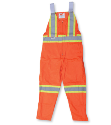 Orange Poly/Cotton Traffic Safety Overalls