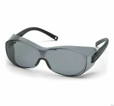 Over The Glasses, Safety Glasses, OTS, Gray