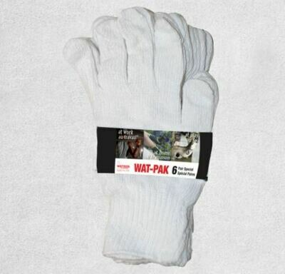 Glove, White Knight Liner, 6/Package