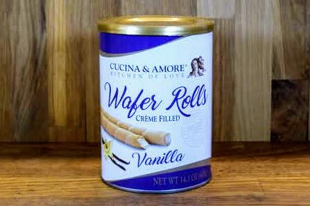 Cucina & Amore Wafer Rolls - Vanilla