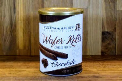Cucina & Amore Wafer Rolls - Chocolate