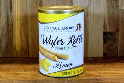 Cucina & Amore Wafer Rolls - Lemon