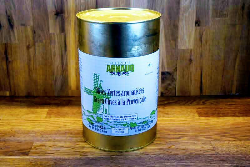 Arnaud Green Olives w/Herbs De Provence - 3L