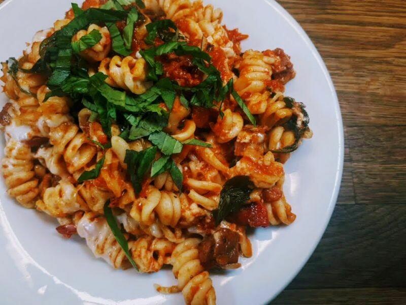 Spiced Chorizo Tomato Fusilli