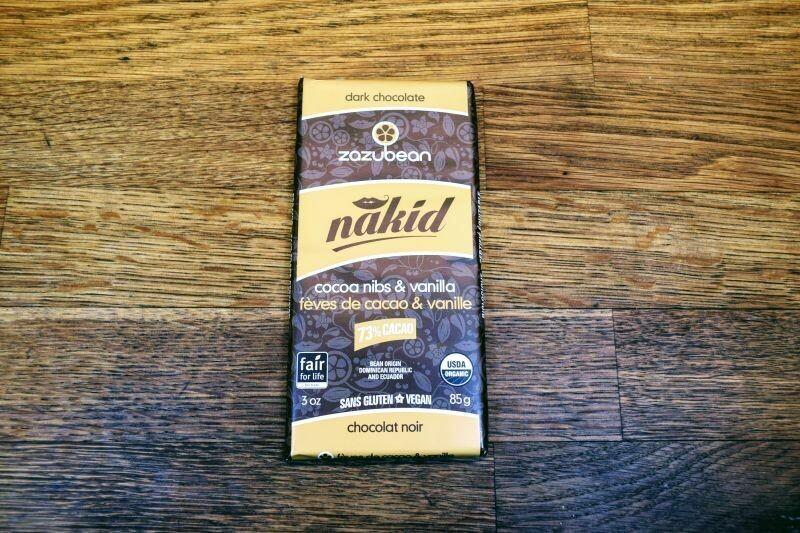 Zazubean Nakid Cocoa Nibs & Vanilla - Dark Chocolate