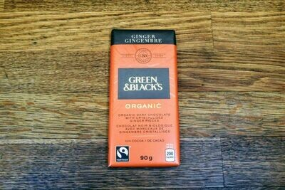 Green&Blacks Organic Dark Chocolate - Ginger