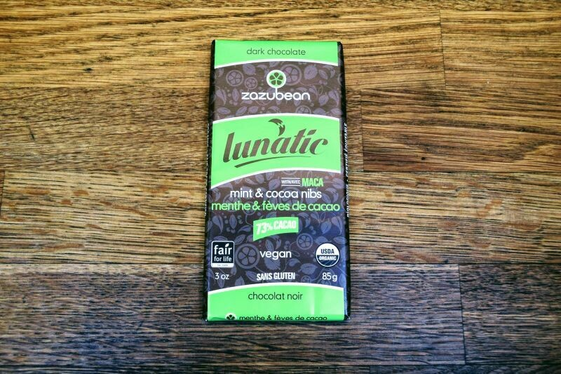 Zazubean Lunatic Cocoa Nibs & Mint - Dark Chocolate