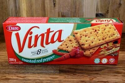 Vinta Roasted Red Pepper Crackers