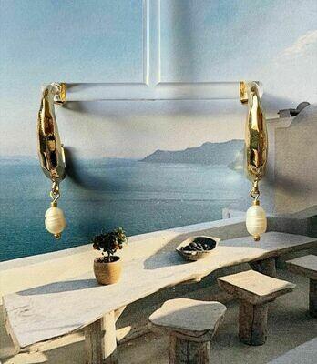Open ringen met zoetwaterparels