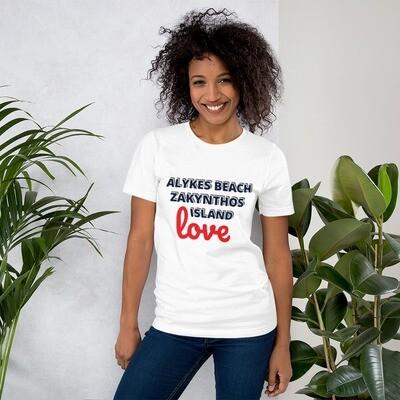 Short-Sleeve Unisex T-Shirt LOVE ALYKES by BUCA