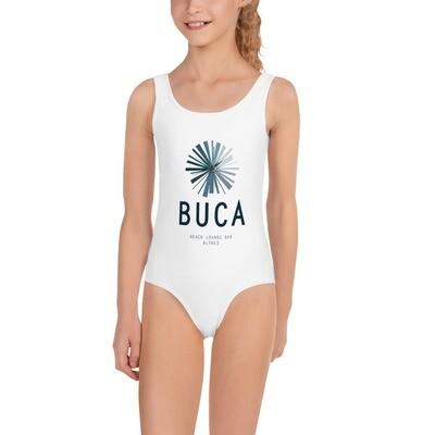 All-Over Print Kids Swimsuit BUCA LOGO