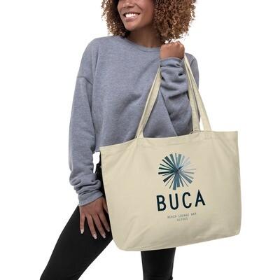 Large organic tote bag BUCA LOGO