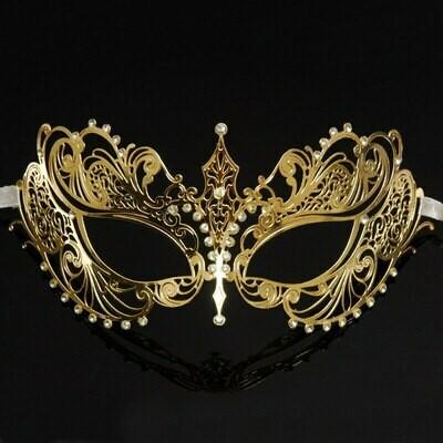 Gold Masquerade Mask for Men   Metal